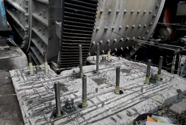 SAG mill complete foundation repair service
