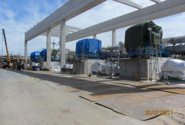 Epoxy grouting four brand-new IHI BOG Compressors
